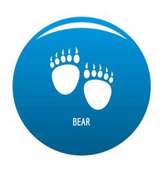 Bear step icon blue vector