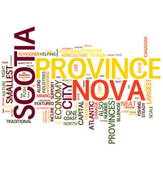 beautiful nova scotia text background word vector image