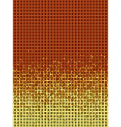 bubble gradient pattern in orange and yellow vector image