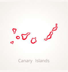 Canary islands - outline map vector