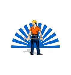 Coal Miner With Pick Axe vector image