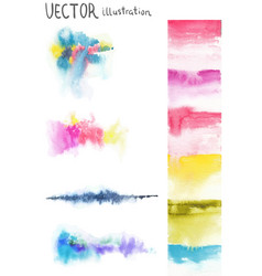 colorful background with watercolor bright vector image