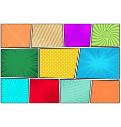 comic book pages composition vector image