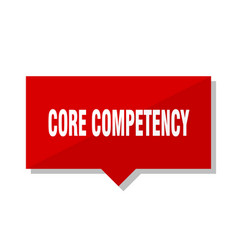 Core competency red tag vector