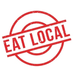 Eat Local rubber stamp vector image
