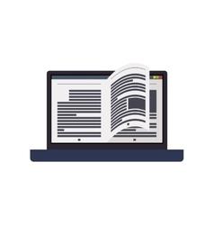 Ebook laptop internet web reading lerning icon vector