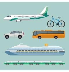 fast transportation means set modern transport vector image