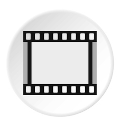 Film strip icon flat style vector image