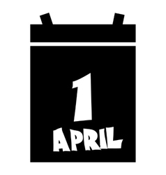 First april calendar icon simple style vector