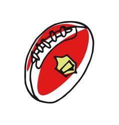 football ball hand drawn icon vector image