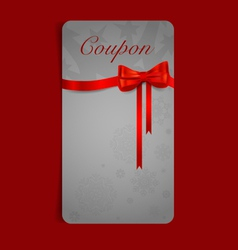 Gift coupon with gift bows and ribbons vector