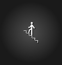 go down up icon flat vector image