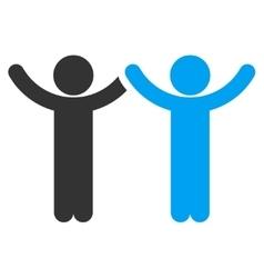 Hands Up Children Icon vector