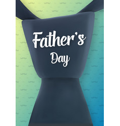 happy father s day greeting card vector image
