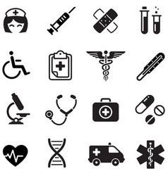 Healthcare icon set vector
