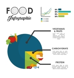 Infographics food design vector image