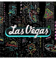 Inscription Las Vegas vector
