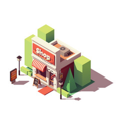 Isometric shop opening icon vector