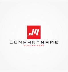 letter jm monogram symbol design minimalist vector image