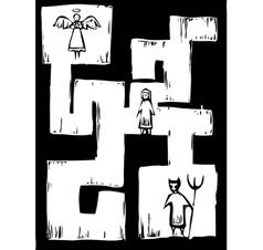 Life Maze vector