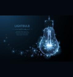 lightbulb polygonal mesh art looks like vector image