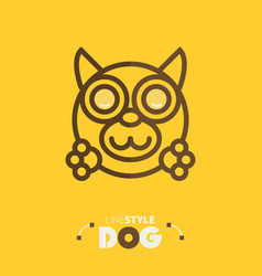 line style dog vector image