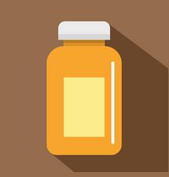 medicine jar icon flat style vector image
