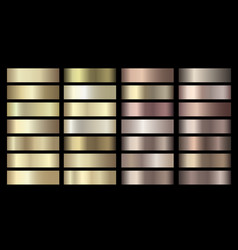 metallic gold silver bronze colorful vector image