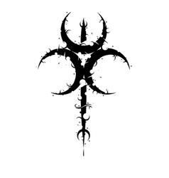 Moon trio symbol background vector