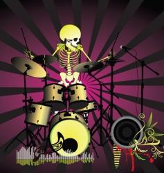 Music poster skeleton vector