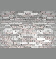 Old light brick wall vector