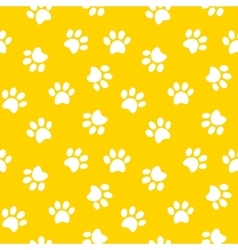 Paw print seamless pattern vector