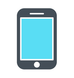 phone icon silhouette symbol vector image