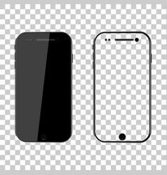 png mockup phone mock up black smartphone mobile vector image