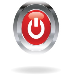power red icon vector image