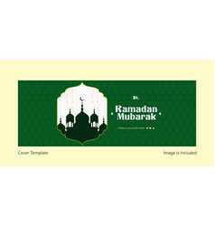 Ramadan mubarak cover page design vector