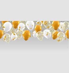 realistic balloons banner golden glitter balloon vector image