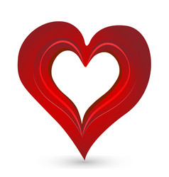 Red compassion shape heart icon vector
