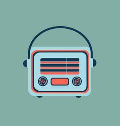 Retro home electronics radio in vintage style vector