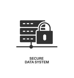 secure data system icon vector image