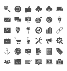 SEO Solid Web Icons vector