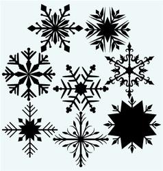 Set snowflake vector image