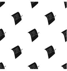 shopping list icon in black style isolated on vector image
