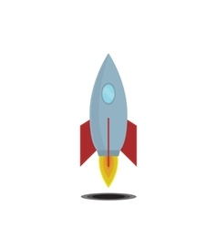 Simple icon cartoon space ship vector image