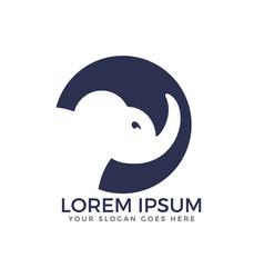 simple modern elephant logo vector image