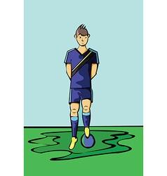 Soccer Football Player Blue Sportswear vector