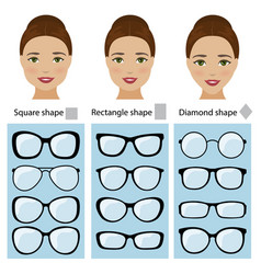 Spectacle frames for women face shapes vector