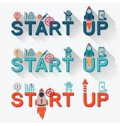 Start up new business project vector