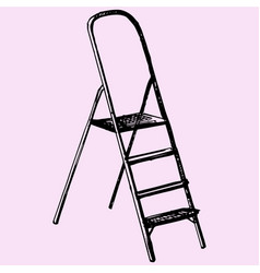Step ladder vector