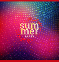 Summer night party flyer design template with vector